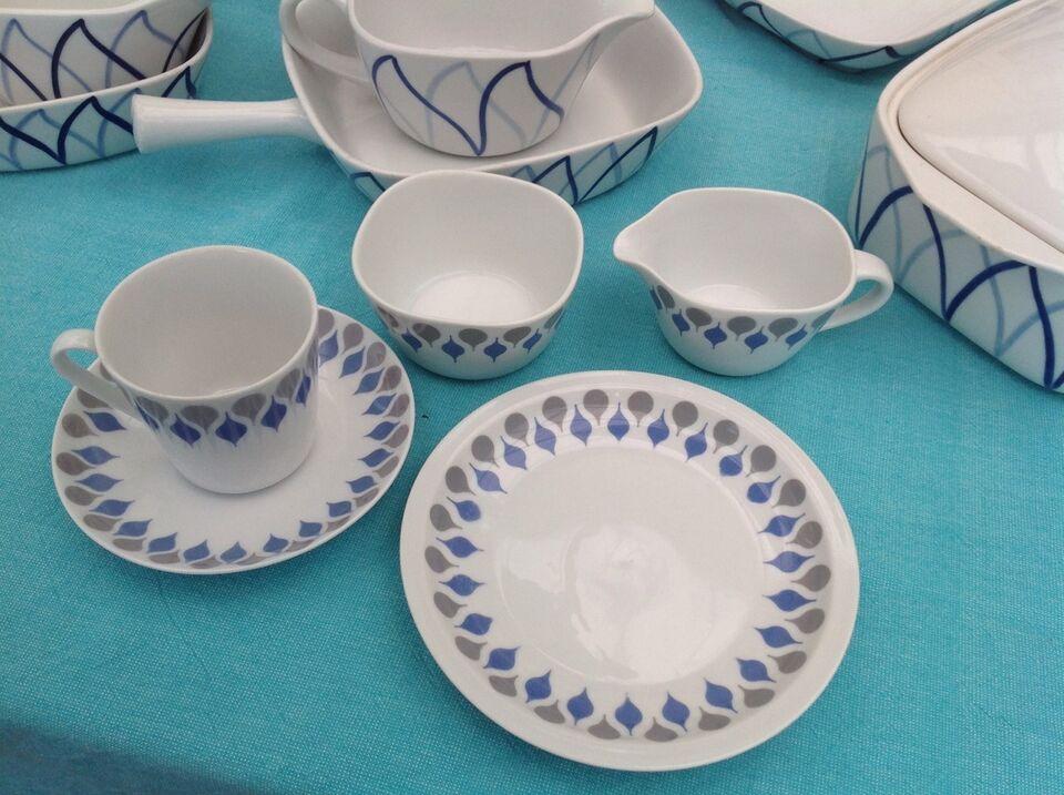 Porcelæn, Danild..Blå dråbe / Picnic, Danild.. porcelæn