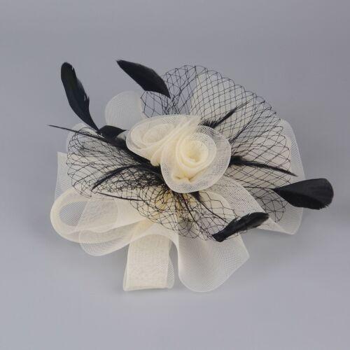 Details about  /Women Party Bridal Fascinator Veil Hair Clip Accessory Handmade Xmas Wedding Hat