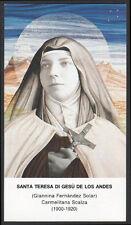 """santino-holy card""""S.TERESA DE LOS ANDES"""