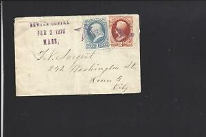 NEWTON-CENTRE-MASSACHUSETTS-1878-BANKNOTE-COVER-FANCY-STAR-CL-LADIES-COVER