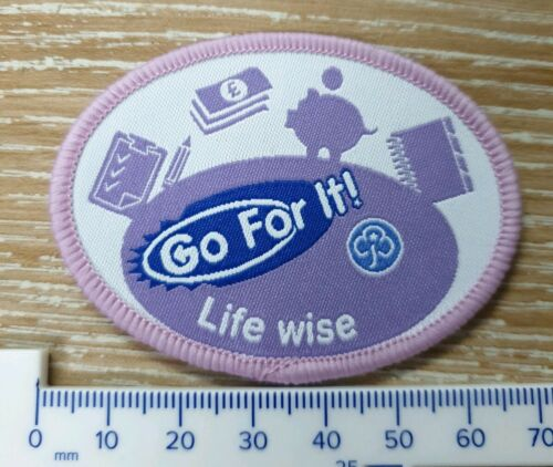 Go for it Life wise Girl Guides GirlGuiding badge New Obsolete
