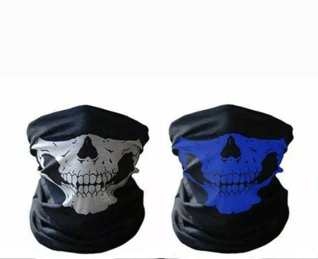 2 Skeleton Ghost Skull Face Mask Biker Balaclava Call of Duty COD Costume Game