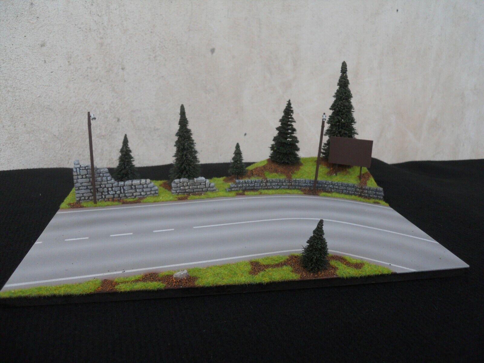 Diorama Vehicles 1 1 1 43 L 36 x L 24 cm Road of Mounting N°3 19b