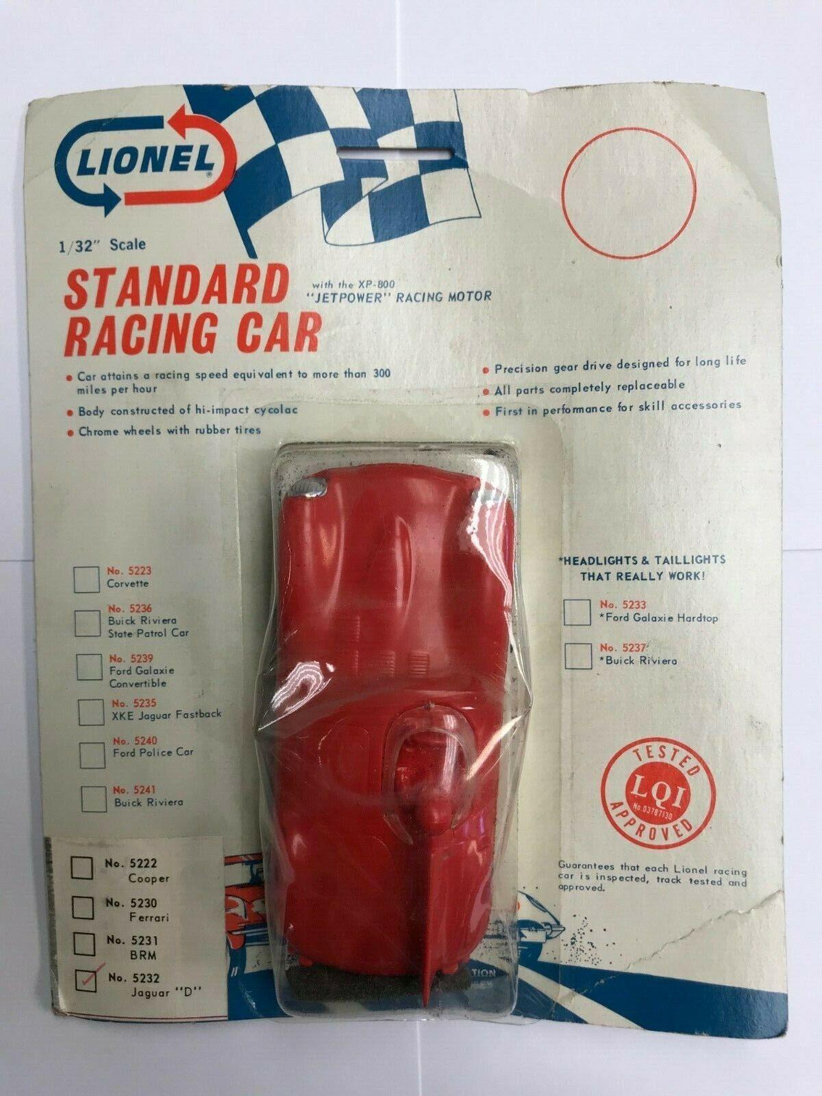 Lionel Standard Racing Car No 5232 Jaguar D 1 32 Scale Slot Car Sealed Packaging