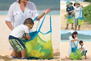 Portable-Sand-Away-Beach-Shoulder-Mesh-Bag-Tote-Kids-Object-Toy-Storage-Bag-Net