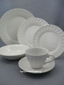 Churchill-Chelsea-White-Dinner-Dessert-Side-Plates-Bowls-Cups-amp-Saucers