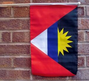 ANTIGUA-amp-AND-BARBUDA-LARGE-HAND-WAVING-FLAG-18X12-WITH-24-034-POLE-flags-CARIBBEAN