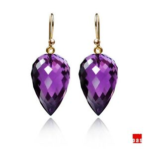 Image Is Loading Soild 14k 18k Premium Cl African Amethyst Earrings