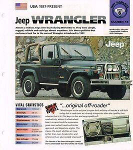 1996 / 1997 / 1998 JEEP WRANGLER Sahara IMP Brochure
