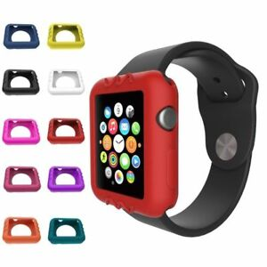 Soft-Silicone-Protector-Bumper-Case-Cover-For-Apple-Watch-Series-42mm-38mm-1PC