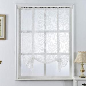 Détails sur Romain Rideau Décoration de Fenêtre ,Rideau Plissé en Tulle  Salle de Bain