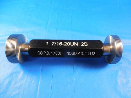 NEW 1 7//16 20 UN 2B THREAD PLUG GAGE 1.4375 GO NO GO P.D./'S = 1.4050 /& 1.4112