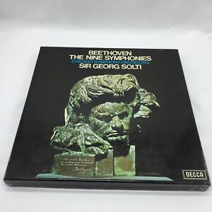 Beethoven The Nine Symphonies 9 LP Vinyl Box Sir Georg Solti Decca Records VGC
