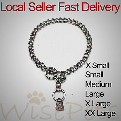 New stainless steel pet dog training neck collar choke chain gentle corrections