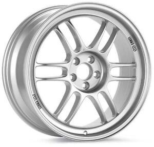 enkei rpf1 17x10 5x114 3 38mm offset 73mm bore silver wheel 93 98