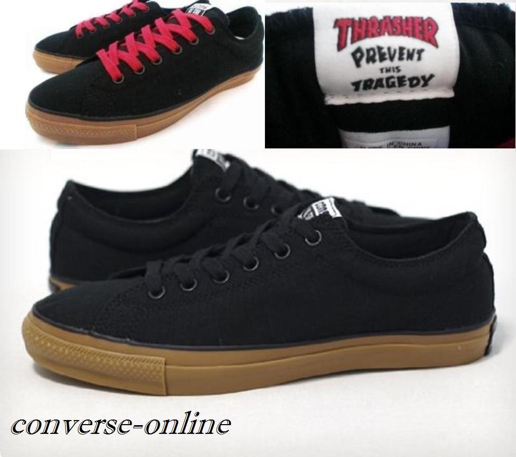 Hombres Converse Thrasher All Star contras CTS Thrasher Converse Buey Negro Zapatillas Zapatos  de Skate Talla Reino Unido 12 226203