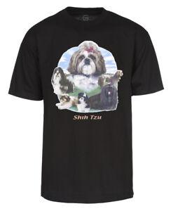 Mens Shih Tzu Short Sleeve T Shirt Ebay