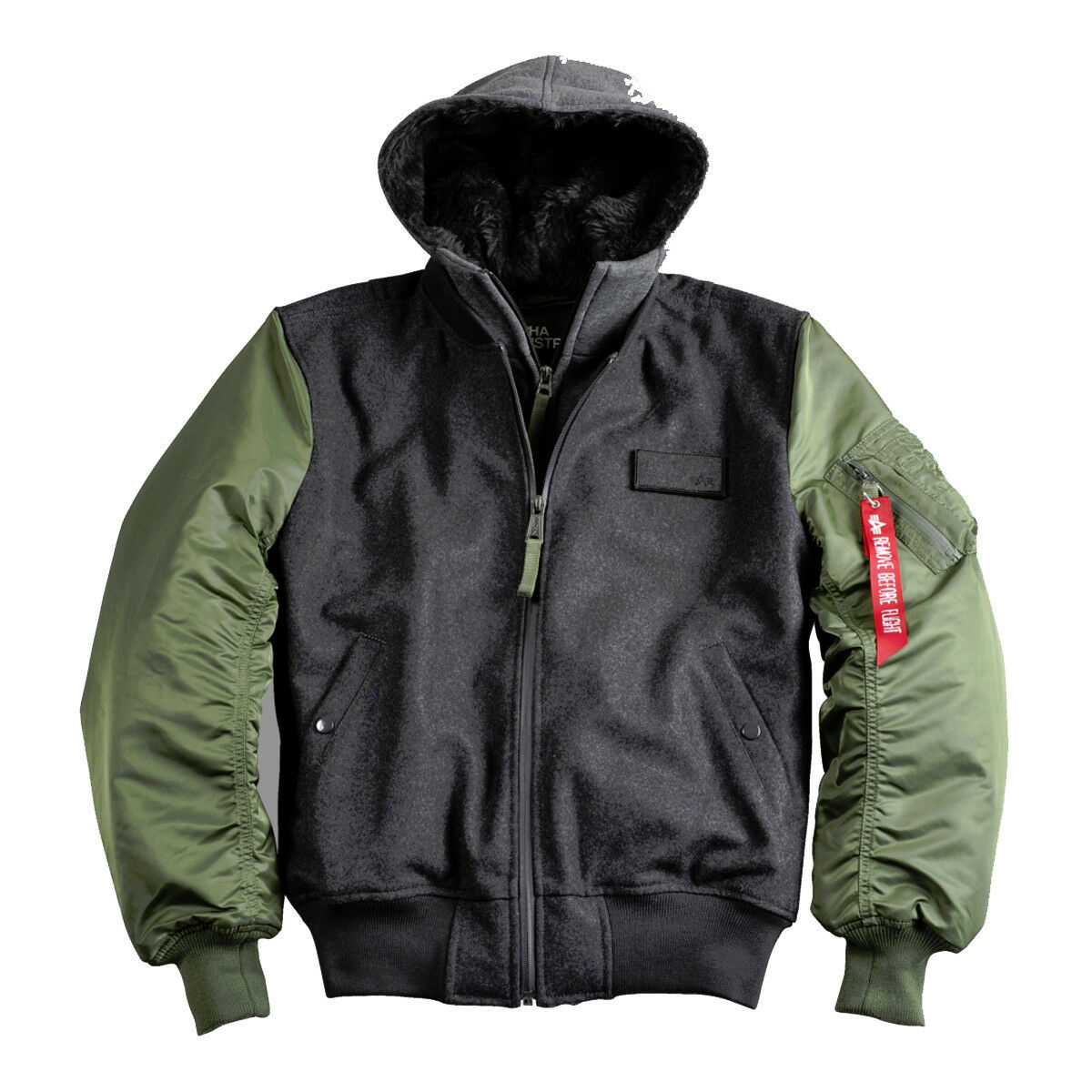 Alpha Industries veste ma-1 D-tec wool aviateur veste vestes Bomber veste Industries hommes capuche 15bde7