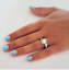 thumbnail 5 - Ladies Solitaire Cocktail Ring Cubic Zirconia  Sizes 5,9,10 Silver Cocktail