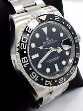 Rolex GMT-Master II 116710 LN Date Black Ceramic Bezel Oyster Watch *BRAND NEW*