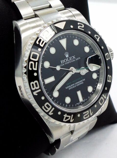 Rolex GMT-Master II 116710 LN Date Black Ceramic Bezel Oyster Watch *BRAND NEW*