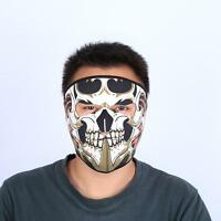 Motorcycle Riding Mask Skull Face Biker Neck Warmer Outdoor Face Cover