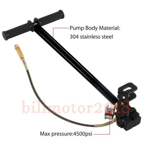 Stainless Foldable 4500psi Air Gun Rifle PCP Floor Hand Pump Stirrup Gauge Pump