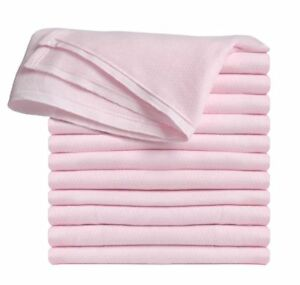 Clips-N-Grips-Birdseye-Flatfold-Cloth-Diapers-Baby-Pink
