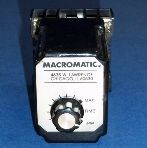 MACROMATIC 120V AC//DC 10A 6-180 SECOND TIMING RELAY SS 51622-10B