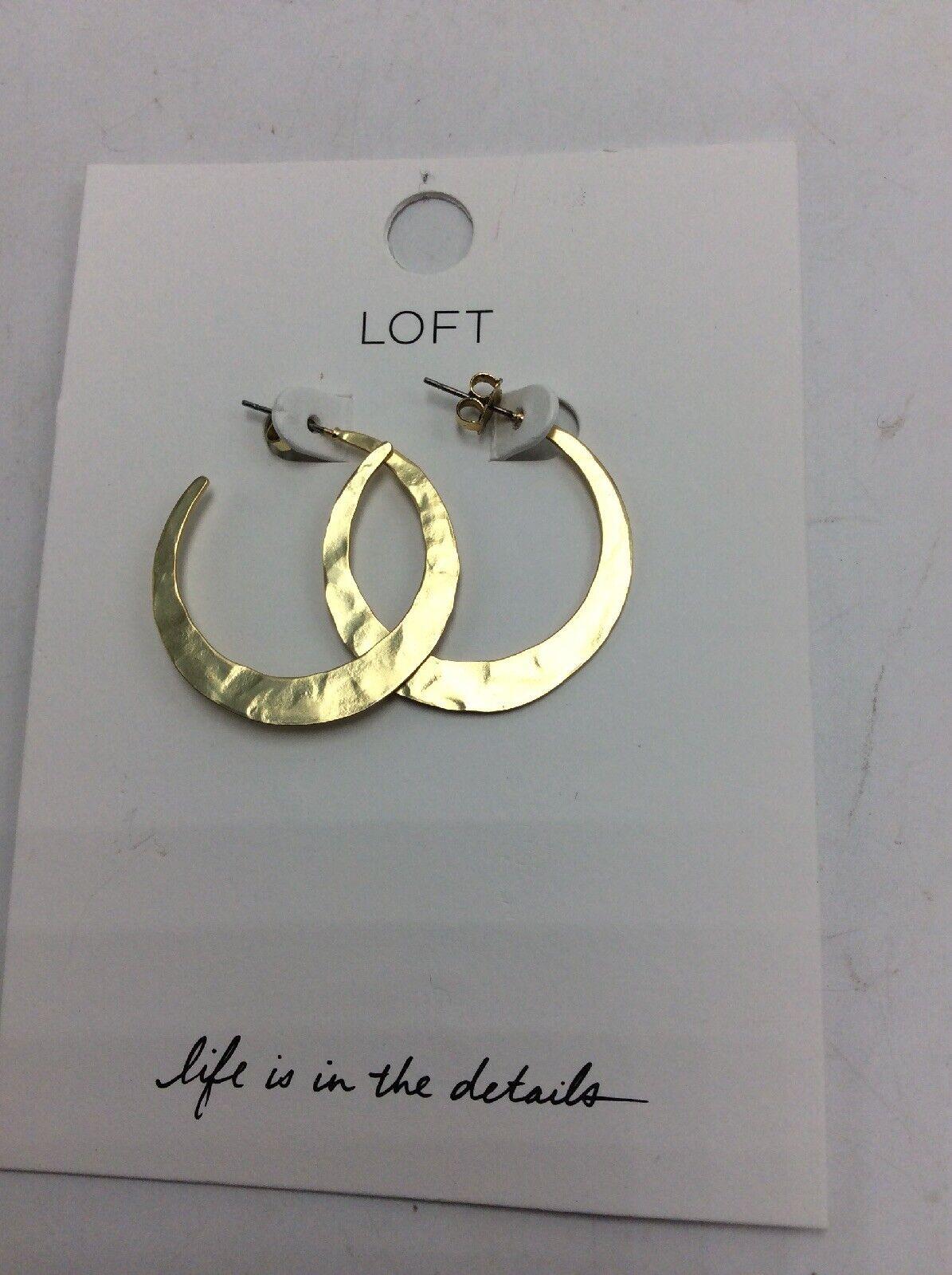 .50 Loft GOLD OPEN HOOP EARRINGS #116