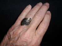 Park Lane Jewelry, metallic Ring, Size 10, Two Tone Grid Of Dots,