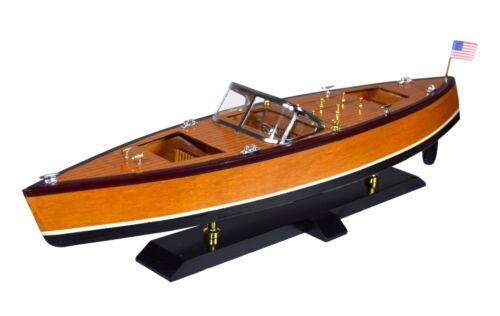 Dekoration Modellschiff aus Holz Amerikanisches Motorboot Schiffsmodell Boot