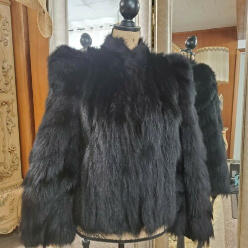 VINTAGE 1930-1940's MONKEY COLOBUS FUR HIP LENGTH