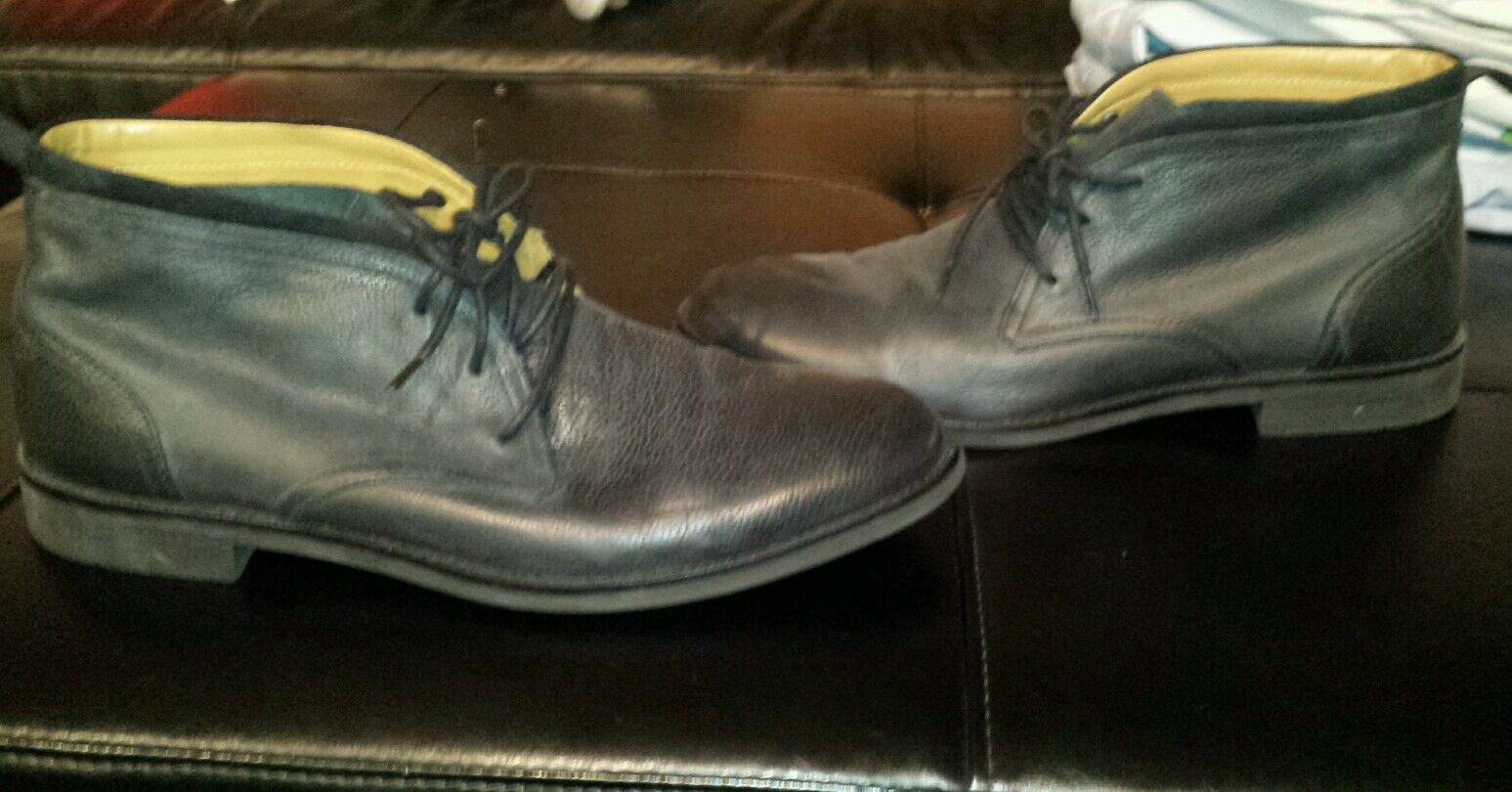 Men's Cole Haan Leather Low Boots Shoes Size 11.5 EUC!
