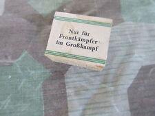 Deutsche Seife Depot 50gr Soap Brotbeutel Front Haversack WH WW2 WK2 Wehrmacht
