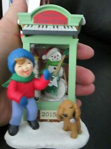 Hallmark Music Store Christmas Ornament Window Puppy Boy ...
