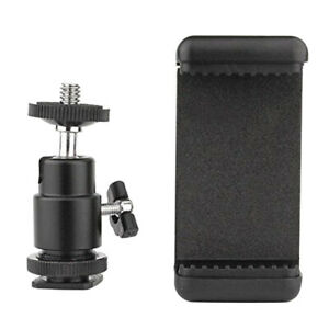 Phone-Clip-Holder-Ball-Head-Hot-Shoe-Adapter-Mount-for-Nikon-DSLR-Camera