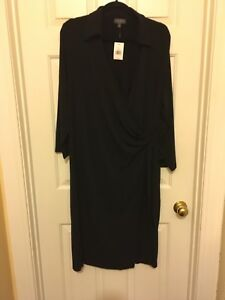 4607849465f THE LIMITED NEW with Tags SOLID BLACK WRAP DRESS SIZE 3X Retail  109 ...