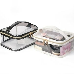 PVC-Makeup-Bag-Clear-Cosmetic-Case-Waterproof-Toiletry-Bag-Travel-Handlebag-1PC