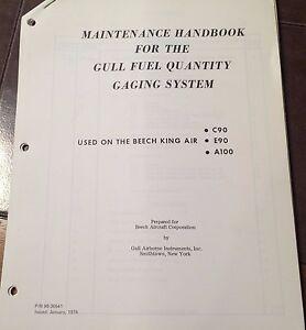 gull fuel quantity system service manual beechcraft king air c90 rh ebay com