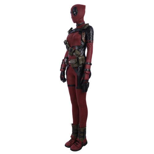 Lady Deadpool Costume Costume  X-Man Superhero Tights Suit Halloween Customize