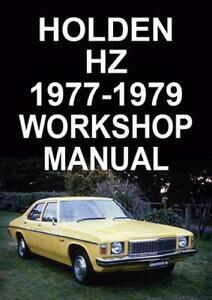 holden hz 1977 1979 workshop manual ebay rh ebay com au Green Holden HZ 1979 Holden HZ