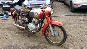 1974 Honda CD175 BARN FIND SPARES OR REPAIRS