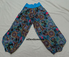 T410 M  Multi-Color print Free Size Cotton homemade Women Lady Trouser Nepal