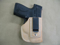 Taurus Slim 709,740 Iwb Leather In The Waistband Concealed Carry Holster Tan