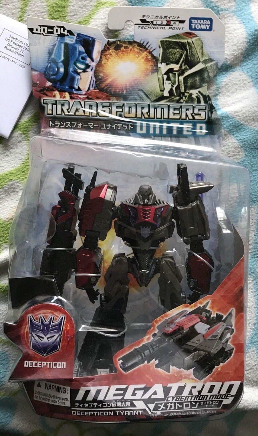 Transformers TAKARA UNITED UN-04 MEGATRON NIB USA SEALED NEW MINT