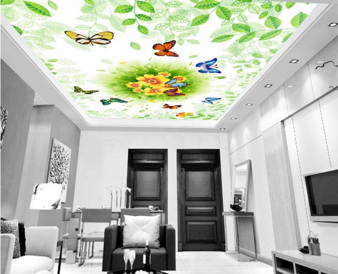 3D Butterfly Grün Leaf 89 Wall Paper Wall Print Decal Wall Deco AJ WALLPAPER