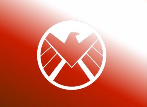 "Logo REVERSE-Vinyl Decal Sticker Phone Avengers Shield Custom 3/""x3/"" S.H.I.E.L.D"