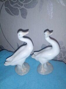 2-x-LLADRO-GOOSE-SWAN-BIRD-approx-5-034-FIGURES-BOTH-IN-VGC