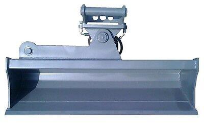 Grabenräumlöffel 1,2m schwenkbar f Minibagger 1,5-2,5t Schnellwechsler o Bolzen